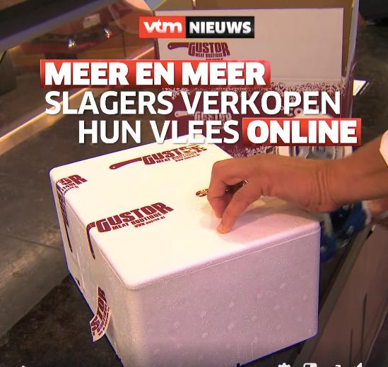 Gustor MeatBoutique kreeg kort bezoekje van VTM NIEUWS.